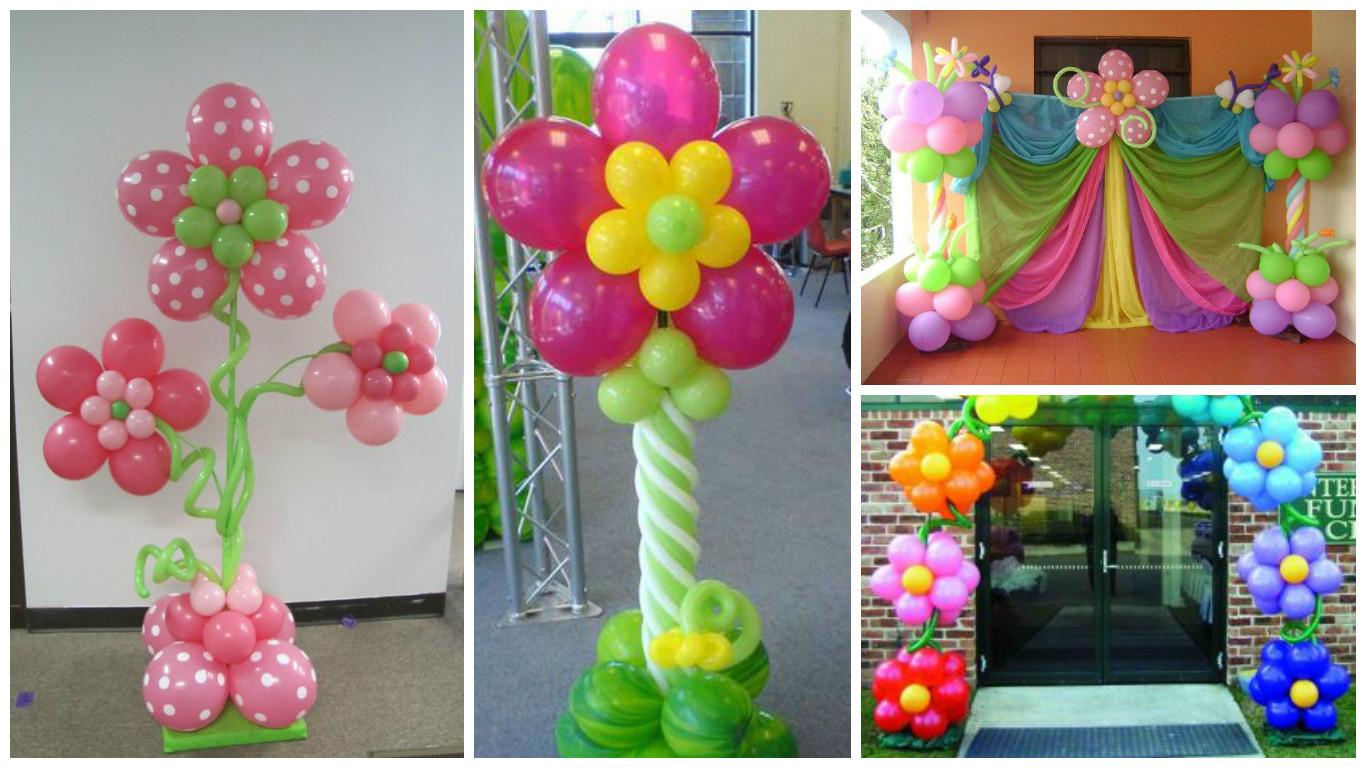 Aprende c mo hacer columnas de flores con globos para for Como decorar c