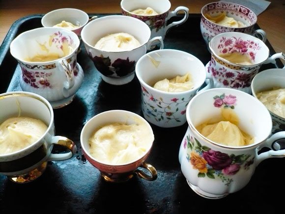 Cupcakes gebakken in Bone China servies