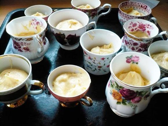 Cupcakes gebakken in Bone China servies