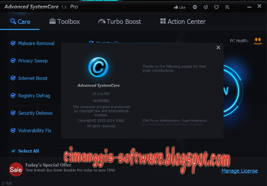 Advanced System Care Pro 7.3.0.457 Full Crack - Cimanggis ...