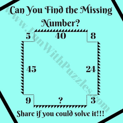 Easy Missing Number Maths Brain Teaser