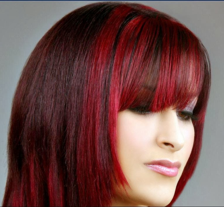 Dark Brown Hair Color With Red Tones Hair Color Highlighting And
