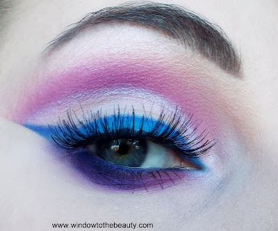 coloured raine vivid pigments blue purple makeup