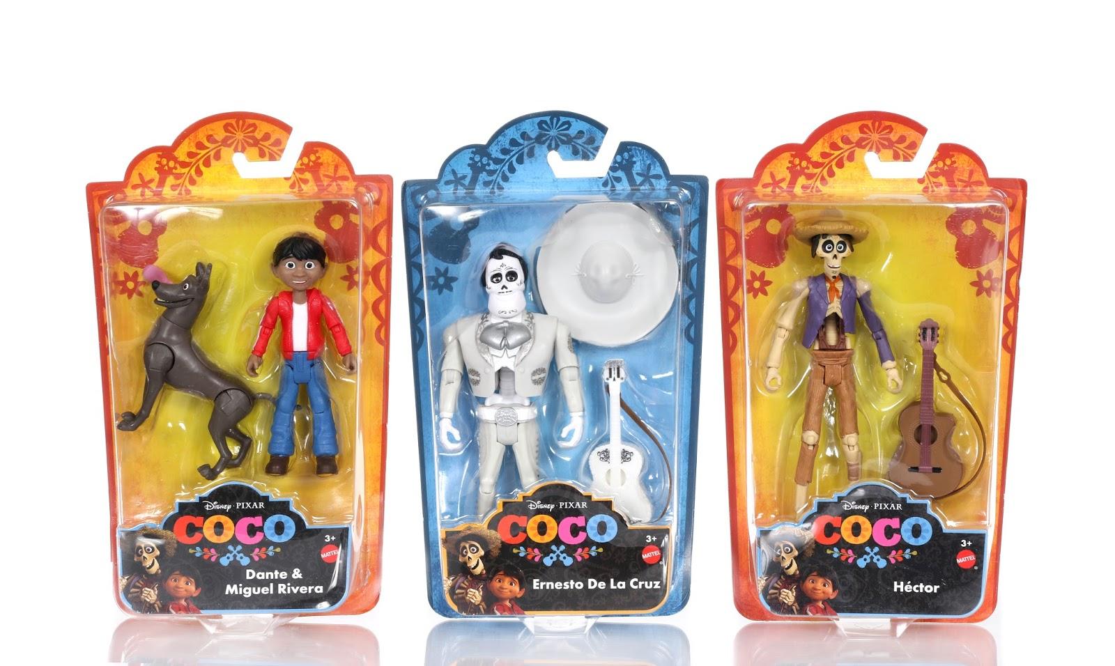 pixar coco toys action figures mattel