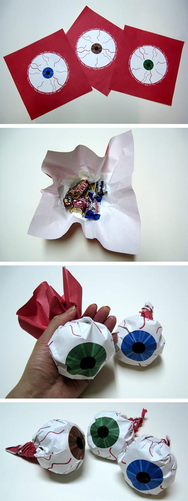 """для детей, конфеты, Новый год, Хэллоуин, конфеты на Хэллоуин, упаковка на Хэллоуин, подарки новогодние, подарки Рождественские, упаковка конфет, упаковка подарков, подарки паздничные, оформление конфет, сюрприз из конфет, упаковка своими руками, красивая упаковка конфет, оригинальная упаковка, упаковка сладостей, сладости для детских праздников,""""Глаз"""" - упаковка конфет на Хэллоуин http://handmade.parafraz.space/"""