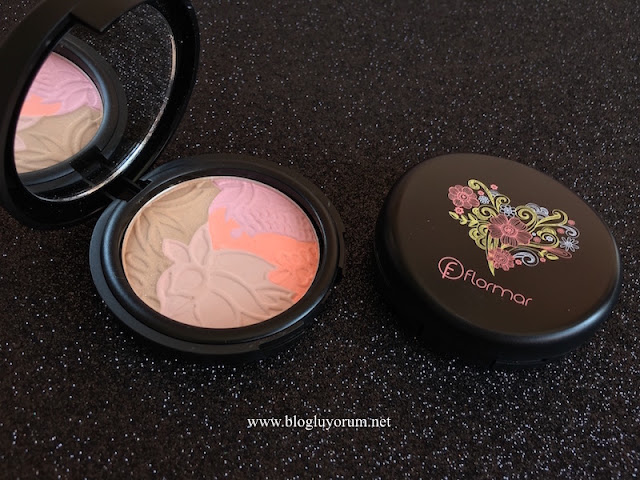 flormar deluxe multi effect powder DM01 rose & coral multicolor