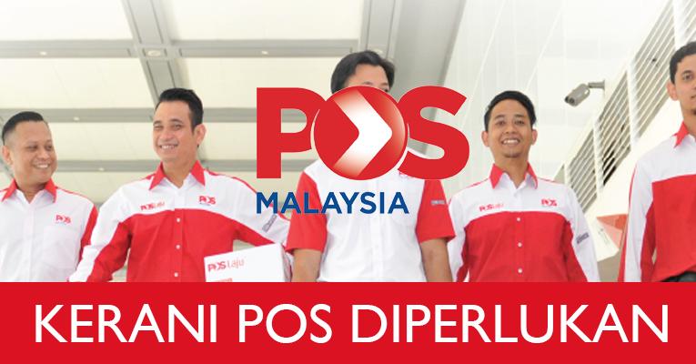 Jawatan Kosong di Pos Malaysia Berhad - Kerani Diperlukan