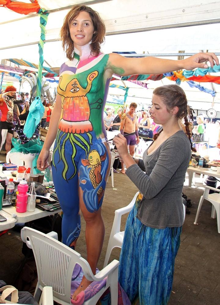 Австралийский бодиарт карнавал 4