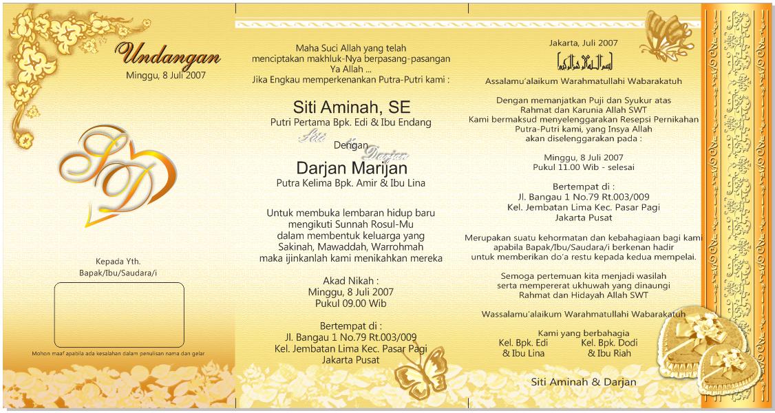 Contoh Undangan Pernikahan Format CDR Timbal Balik ...
