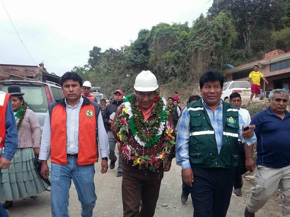 Gobernador asegura que La Paz recibirá obras durante toda la semana hasta el 20 de octubre