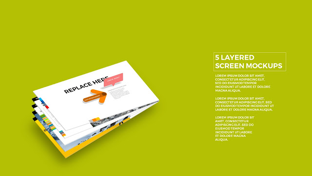 5 Layered Opening Screen Mockukp Templates in Powerpoint Slide1