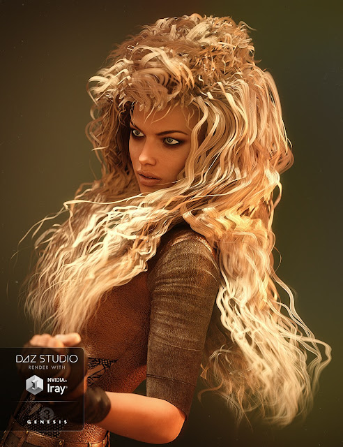 Vixen Hair for Genesis 3 Female