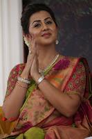 Actress Nikki Galrani Latest Pos in Saree Neruppu Da Movie Audio Launch  0011.jpg