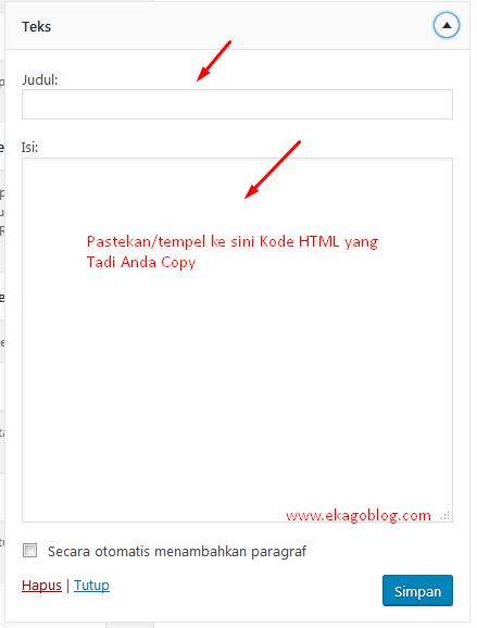 Tutorial Pasang Banner Di Blog WordPress Bagi Pemula