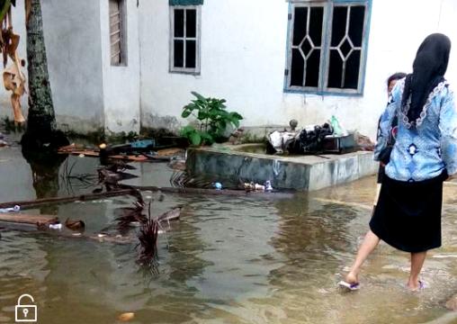 Seharian Diguyur Hujan, Sejumlah, Pemukiman Warga Tergenang