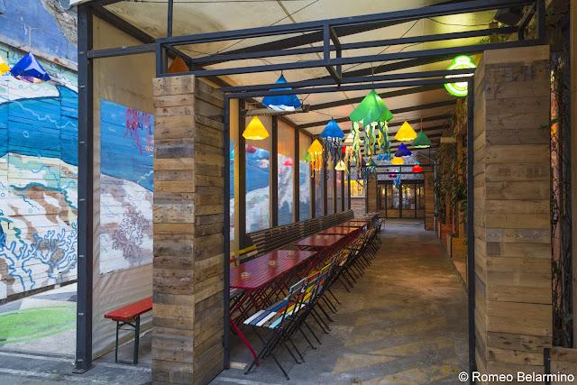 Kuplung Outdoor Area Ruin Bar Budapest Hungary