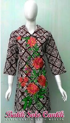 Model Dress Batik Solo Cantik Diyanti