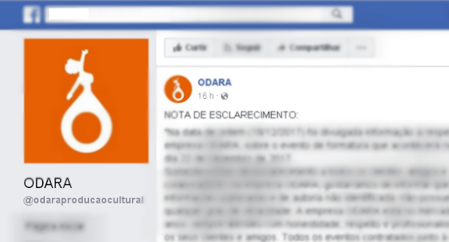 ODARA Produções divulga nota desmentindo boato nas redes sociais