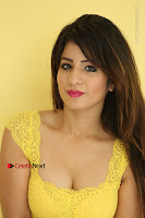 Cute Telugu Actress Shunaya Solanki High Definition Spicy Pos in Yellow Top and Skirt  0185.JPG
