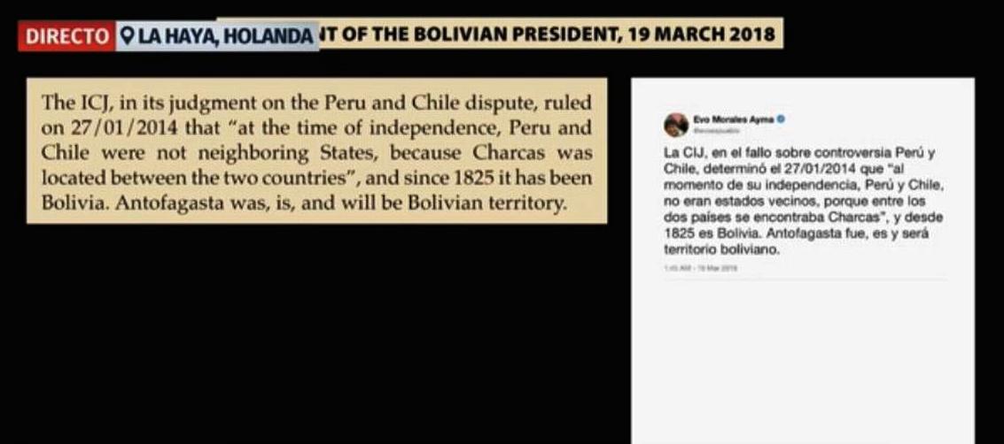 Tuit de Morales sobre pertenencia histórica de Antofagasta / CAPTURA