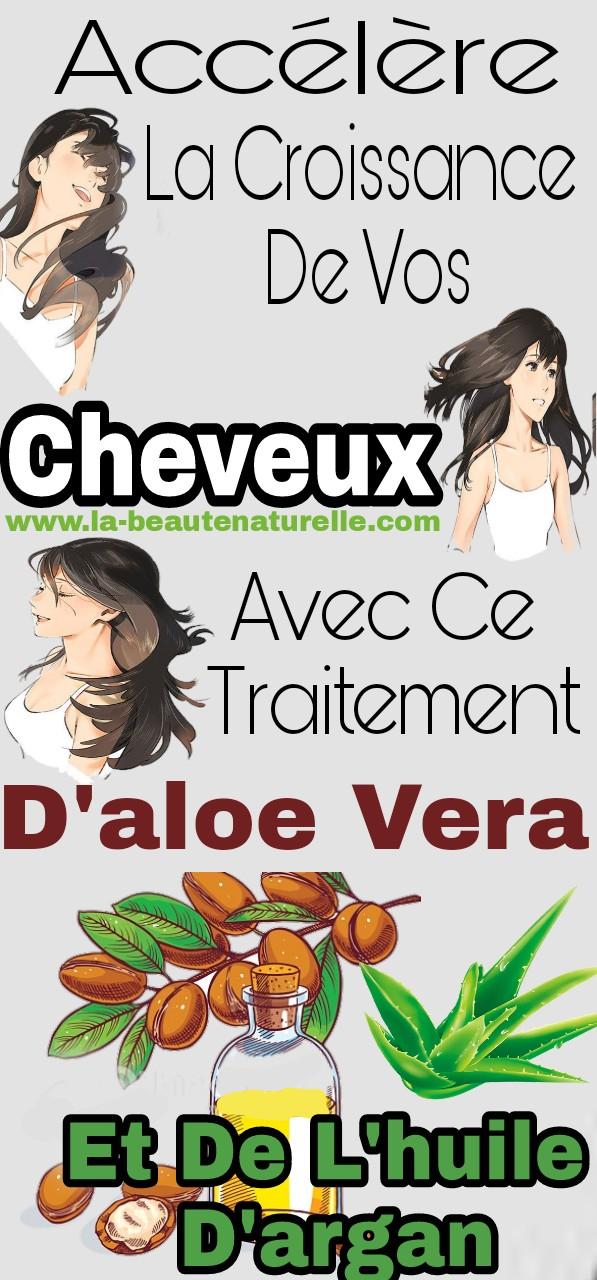 Accélère la croissance de vos cheveux avec ce traitement d'aloe vera et de l'huile d'argan