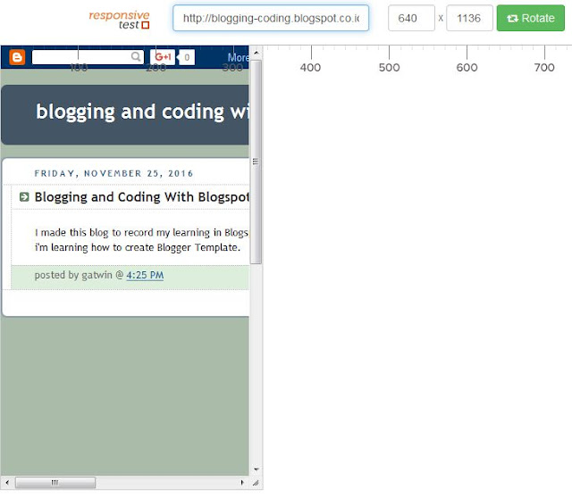 The classic Blogger Template Doesn't have responsive feature by default