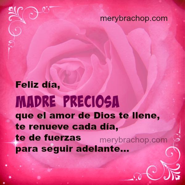 Madre Preciosa Que El Amor De Dios Te Llene Palabras Lindas Feliz