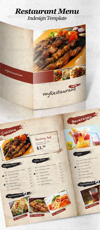 Restaurant Food Menu Templates InDesign PSD Designsmagorg - Indesign restaurant menu template