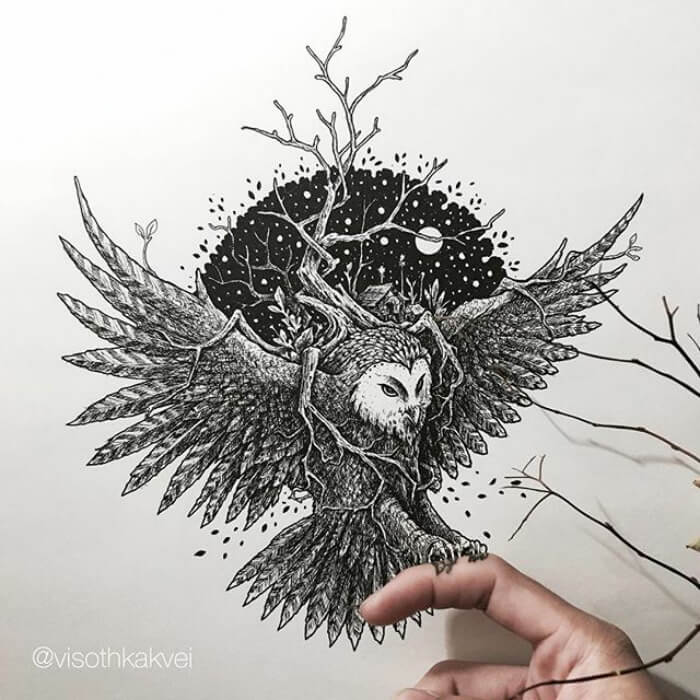 Incredible Illustrations By Cambodian Artist That Will Leave You Speechless