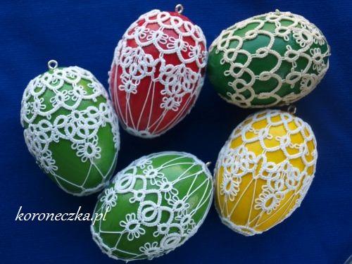 Frywolitki - jaja w galotkach