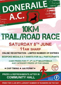 New 10k in N Cork... Sat 8th June 2019