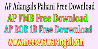 AP Village Adangals Pahani ROR 1B FMB Free Download