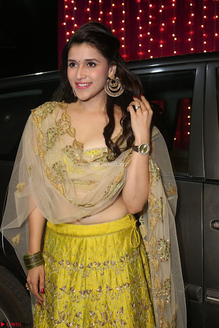 Mannara Chopra in lovely Ghagra Choli Transparent Chunni at Zee Telugu Apsara Awards 2017 02.JPG
