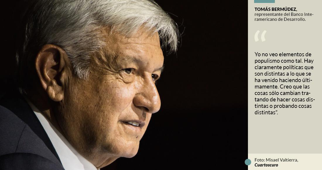 """El BID dice que no ve """"populismo"""" en propuestas de AMLO y aplaude que pruebe con """"cosas distintas"""""""