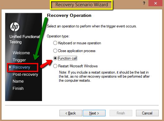 Qtp recovery scenarios tutorialspoint.