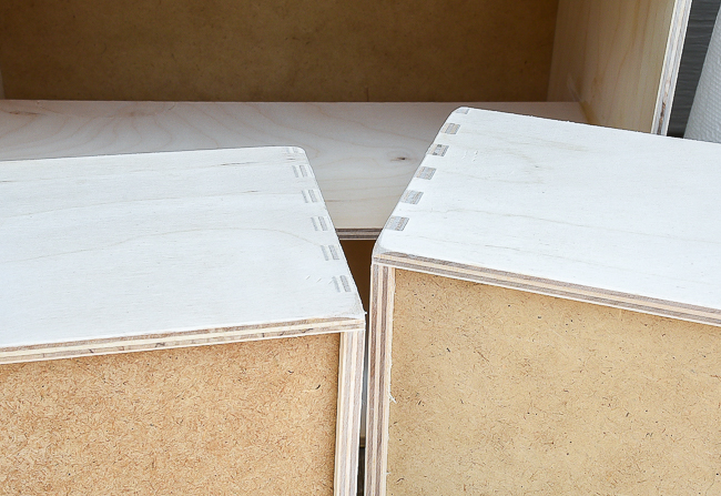 Sanding IKEA Moppe storage drawers