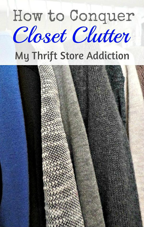 The Thrifty Way to Declutter!  Part 2  mythriftstoreaddiction.blogspot.com Closet organization