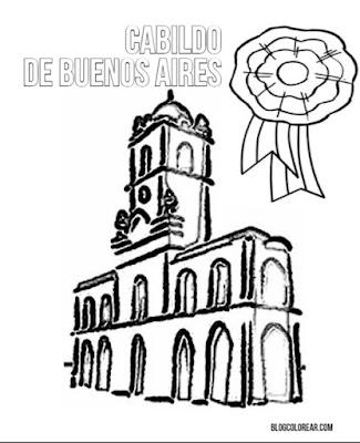 colorear dibujo de Cabildo Buenos Aires
