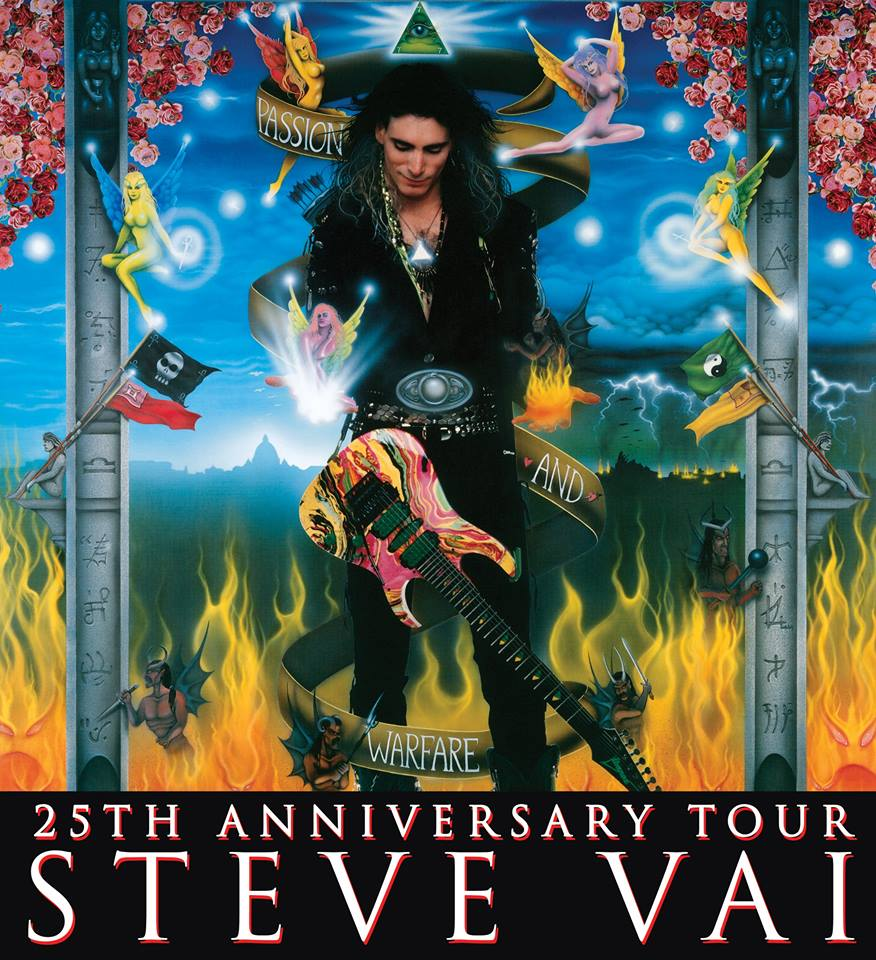 Steve vai passion and warfare 25th anniversary tour symbolism rich one all seeing eye within pyramid pyramid necklace and pyramids on guitar neck biocorpaavc