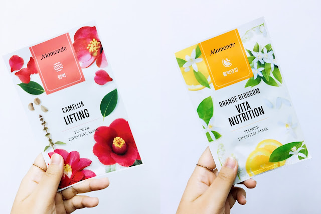 Mamonde; Flower Essential Masks; KBeauty; Mamonde Malaysia; Mask Review; Camellia Lifiting; Orange Blossom Vita Nutrition