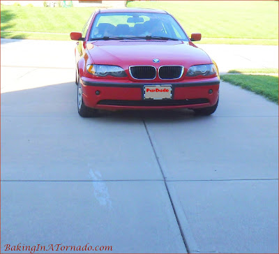 Little red BMW was mine until my son got his driver's license | www.BakingInATornado.com