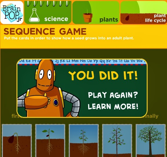 http://www.brainpopjr.com/science/plants/plantlifecycle/sequenceorder/