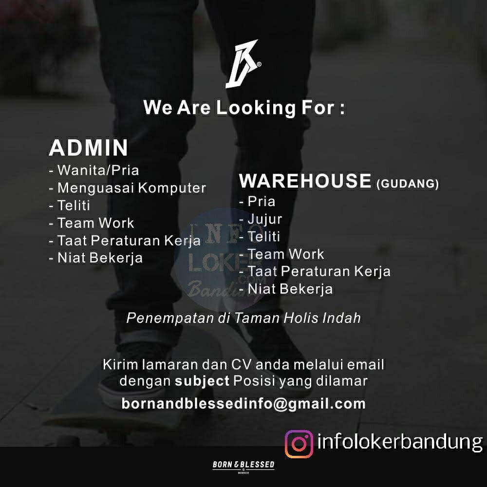 Lowongan Kerja Born Blessed Retail Fashion Bandung September 2018