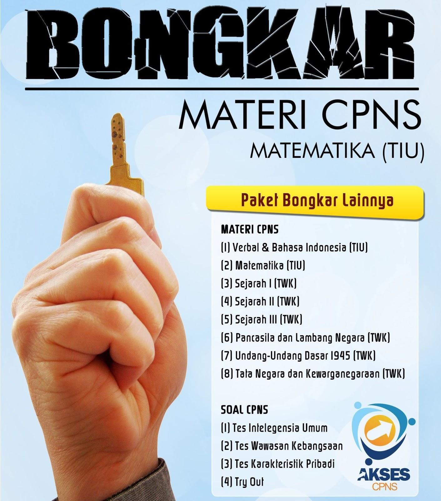 Download Gratis Bongkar Semua Jenis Soal dan Materi Tes Masuk CPNS