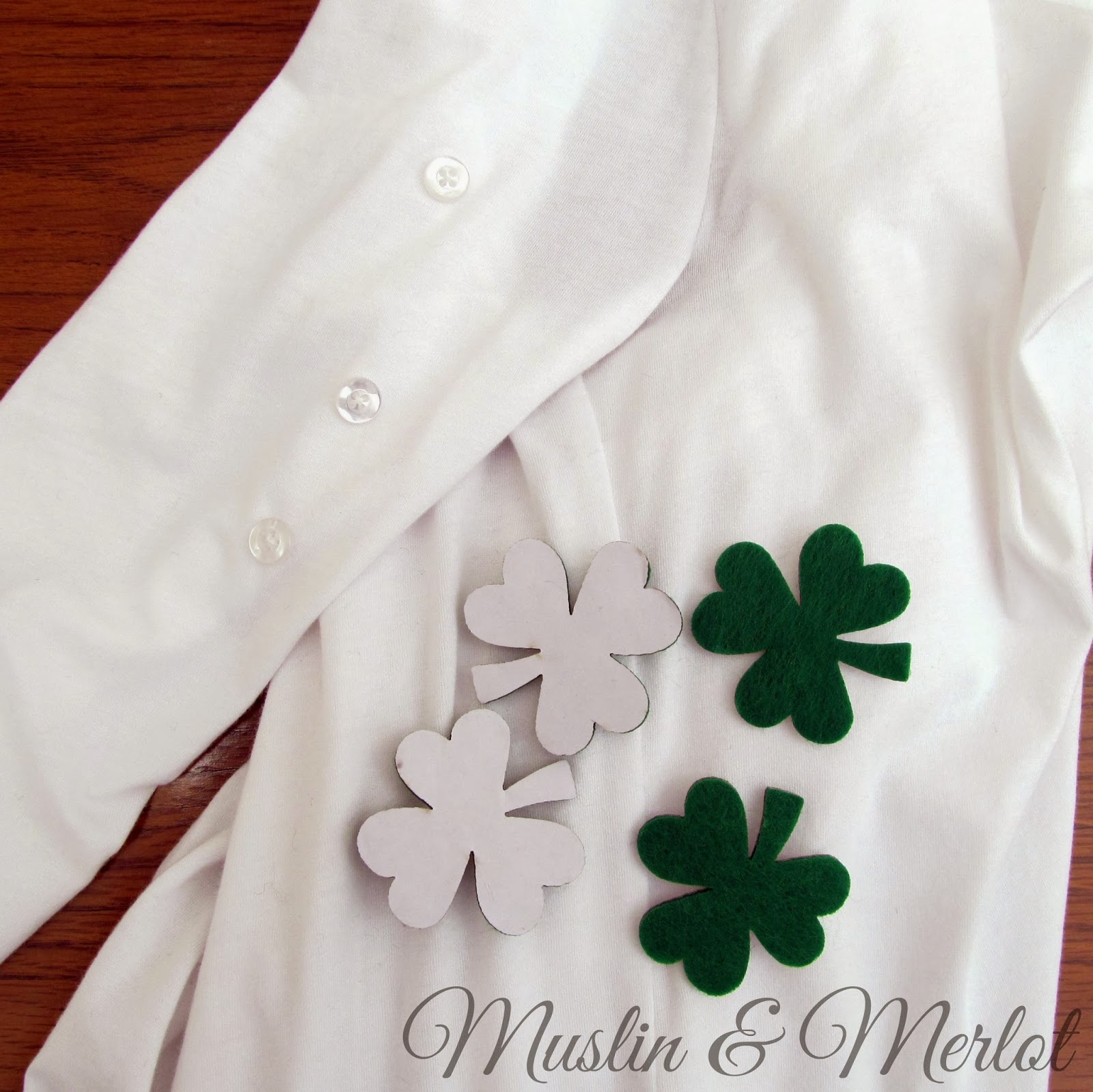 Add shamrocks to your shirt sleeves! by Muslin & Merlot
