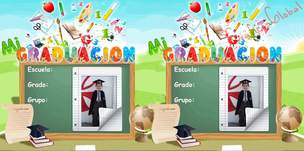 Graduación Escolar Infantil psd PIZARRA