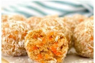 Healthy Carrot Cake Bites