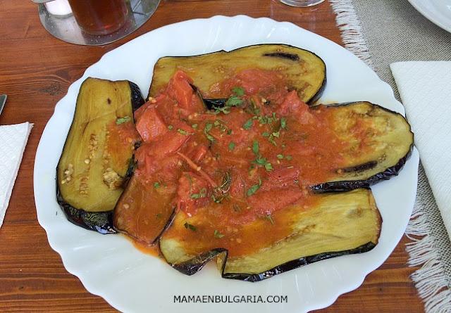 Patladzhán  berenjena tomate receta Bulgaria