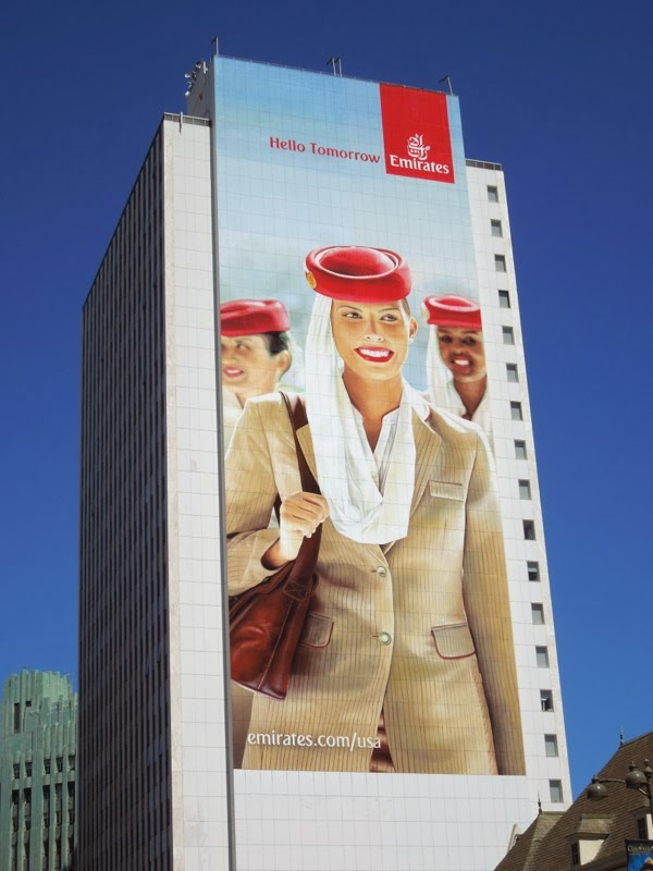Daily Billboard Giant Emirates Airlines Hello Tomorrow