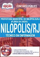Apostila Prefeitura de Nilópolis RJ TÉCNICO DE ENFERMAGEM